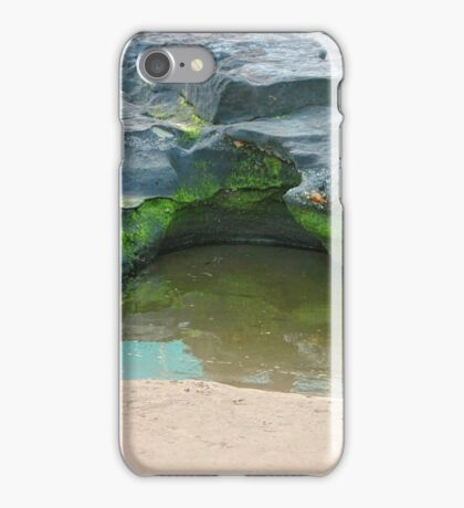 Moss, rocks and puddle iPhone Case/Skin