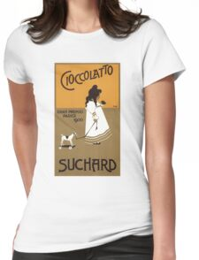 Vintage  Cioccolatto Suchard 1914 Poster Womens Fitted T-Shirt