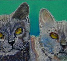 Two Best Friends by sandysartstudio
