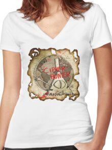 Cipher Hunt Women's Fitted V-Neck T-Shirt