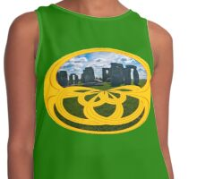 Stonehenge, the centre of Druidism, in a Celtic Knot Contrast Tank