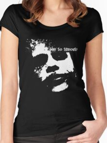 Joker Face, Why So Serious? Women's Fitted Scoop T-Shirt