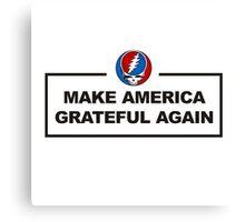make america grateful Canvas Print
