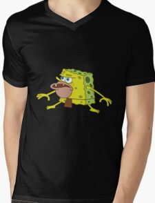 Caveman Spongebob Mens V-Neck T-Shirt