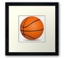 Basketball ball sports for sport lovers Framed Print