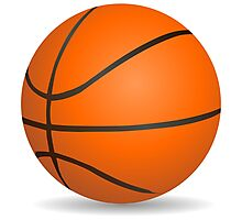 Basketball ball sports for sport lovers Photographic Print