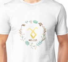 Floral Shadowhunter Logo Unisex T-Shirt
