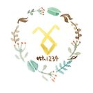 Floral Shadowhunter Logo by dictionaried