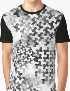 Houndstooth pattern with watercolor effect. Graphic T-Shirt