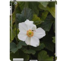 bee on wildflower iPad Case/Skin
