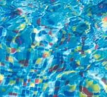 Pool view through the thickness of the water Sticker