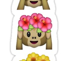 monkey flower crown emojis Sticker