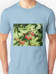 Leaves and berries  viburnum opulus close-up Unisex T-Shirt