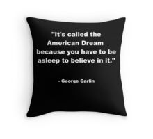 George Carlin Throw Pillow