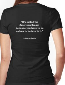 George Carlin Womens Fitted T-Shirt