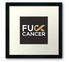 cancer shirt Framed Print