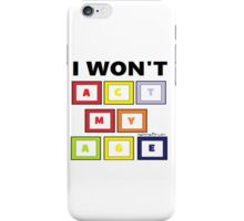 One Direction Act My Age Blocks iPhone Case/Skin