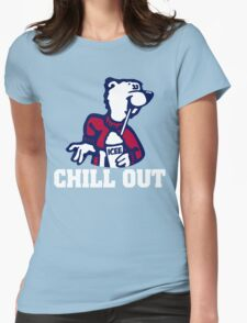 Chill Out Cute Polar Bear Womens Fitted T-Shirt