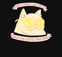 Girls Like Cat and Money Women's Fitted Scoop T-Shirt