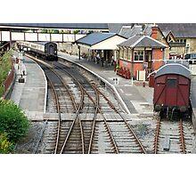 Railway station of Llangollen (Wales) Photographic Print