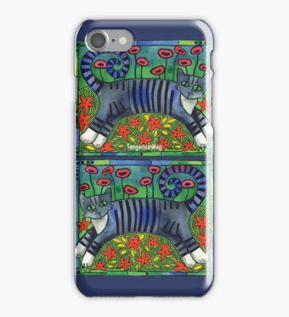Striped Cat of Stripey Joy iPhone Case/Skin