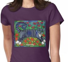 Striped Cat of Stripey Joy Womens Fitted T-Shirt