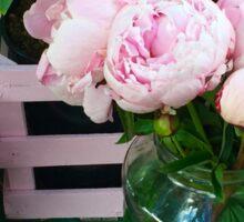 Pink Peonies in a Vase Sticker