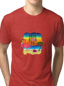 Lonely cool flamingo Tri-blend T-Shirt
