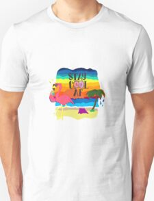 Lonely cool flamingo Unisex T-Shirt