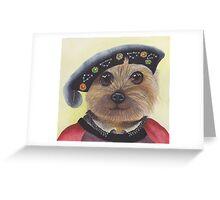 Yorkshire Terrier Henry VIII Greeting Card