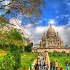 Sacre Couer with greenery .. HDR by Michael Matthews