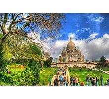 Sacre Couer with greenery .. HDR Photographic Print