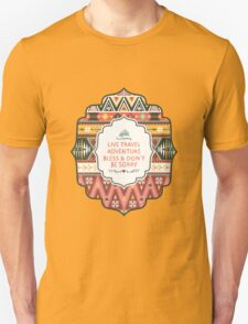 Illustration in native american style with arrows Unisex T-Shirt