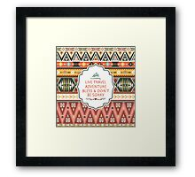 Illustration in native american style with arrows Framed Print