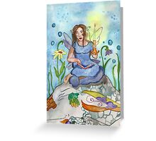 Last Candle/ Fairy and sleeping dragon Greeting Card