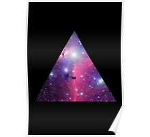 Purple Galaxy Triangle Poster