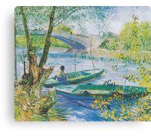 Fishing in Spring, the Pont de Clichy (Asnières) - Van Gogh Canvas Print