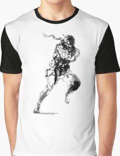 -METAL GEAR SOLID- Snake  Graphic T-Shirt