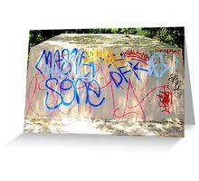 Vivid Graffiti Greeting Card