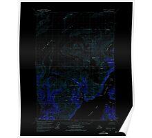 USGS TOPO Map Alaska AK Valdez A-8 360304 1960 63360 Inverted Poster