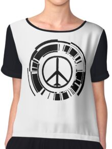 -METAL GEAR SOLID- Peace Walker Logo Chiffon Top