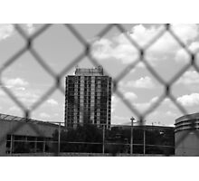 Grey-Scale Apartment Complex  Photographic Print
