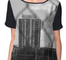 Grey-Scale Apartment Complex  Chiffon Top