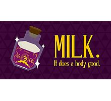 milk. it does a body good. Photographic Print