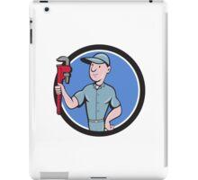 Handyman Monkey Wrench Circle Cartoon iPad Case/Skin