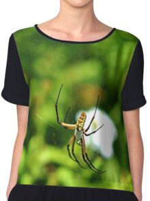 Writing Spider Chiffon Top