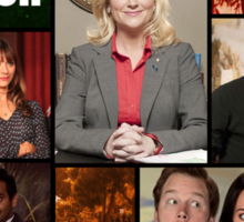 Parks and Recreation Cover Art Sticker