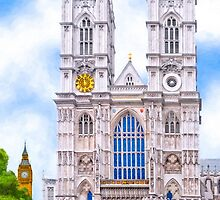 Graphic Westminster Abbey - London by Mark Tisdale