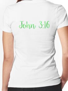 Bible Verse Women's Fitted V-Neck T-Shirt