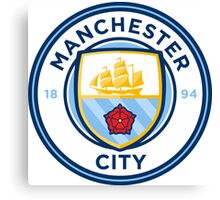 Manchester City FC Badge 2016 Canvas Print